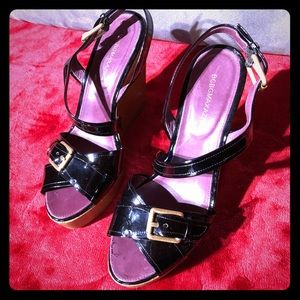 BCBG MaxAzria Patent Platform Sandals